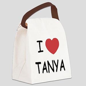 I heart TANYA Canvas Lunch Bag