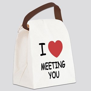 I heart meeting you Canvas Lunch Bag