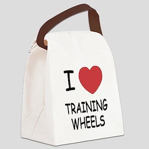 I heart training wheels Canvas Lunch Bag