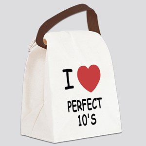 I heart perfect tens Canvas Lunch Bag