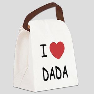 I heart dada Canvas Lunch Bag