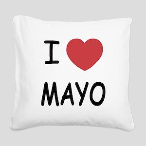 I heart mayo Square Canvas Pillow