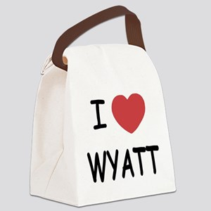 I heart WYATT Canvas Lunch Bag