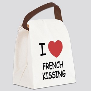 I heart french kissing Canvas Lunch Bag
