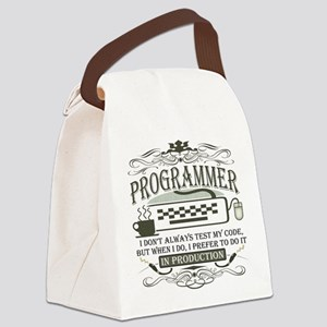 programmer-darks Canvas Lunch Bag