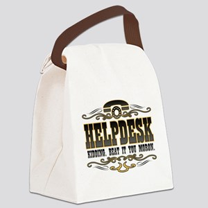 helpdesk-moron-darks Canvas Lunch Bag