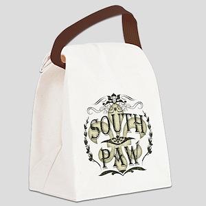 Southpaw Fleur De Lis Canvas Lunch Bag
