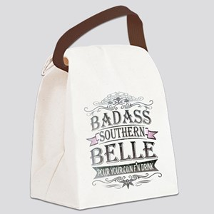 Badass Southern Belle Canvas Lunch Bag