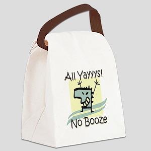 No Booze Canvas Lunch Bag