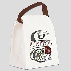 scorpio-heart-dark Canvas Lunch Bag