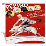 Vintage French Circus Poster Shower Curtain