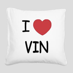 VIN Square Canvas Pillow