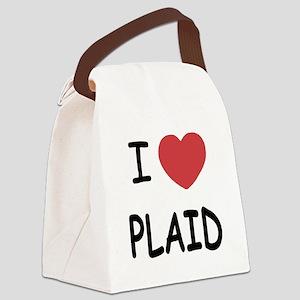 PLAID Canvas Lunch Bag