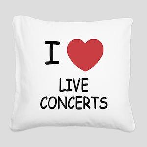 LIVE_CONCERTS Square Canvas Pillow