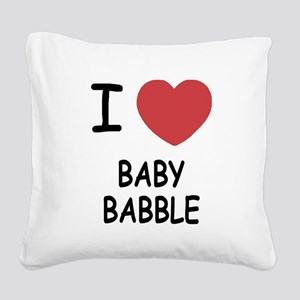 BABY_BABBLE Square Canvas Pillow