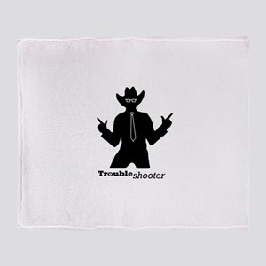 Office Troubleshooter Throw Blanket