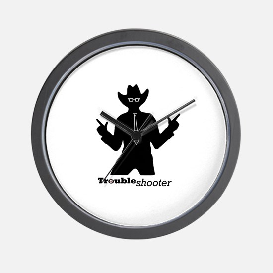 Office Troubleshooter Wall Clock