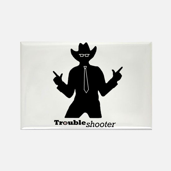 Office Troubleshooter Rectangle Magnet