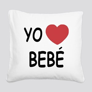 bebe Square Canvas Pillow