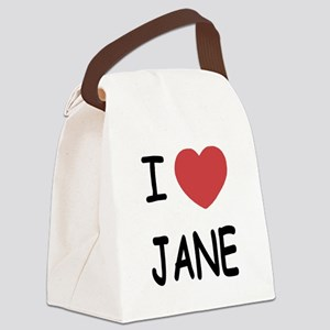 I heart Jane Canvas Lunch Bag