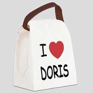 I heart Doris Canvas Lunch Bag