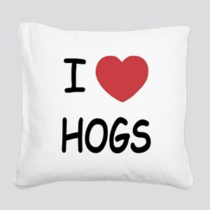 hogs Square Canvas Pillow