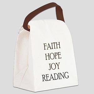 FAITH HOPE JOY READING Canvas Lunch Bag