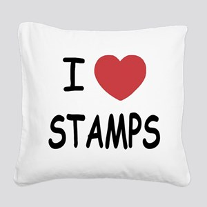 STAMPS Square Canvas Pillow