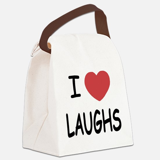LAUGHS01.png Canvas Lunch Bag