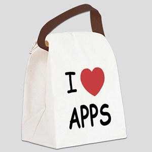 i-heart-APPS01 Canvas Lunch Bag