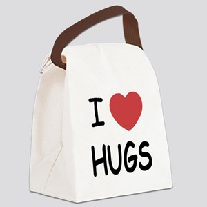 i-heart-HUGS01 Canvas Lunch Bag