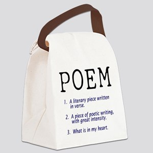 poem01 Canvas Lunch Bag