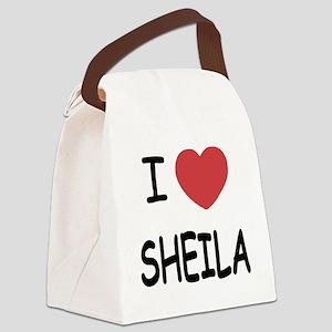 I heart SHEILA Canvas Lunch Bag