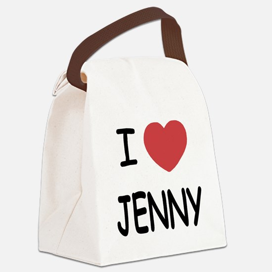 I heart JENNY Canvas Lunch Bag