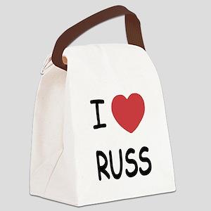 I heart RUSS Canvas Lunch Bag