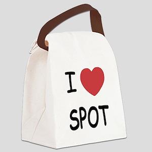 I heart SPOT Canvas Lunch Bag