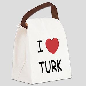 I heart TURK Canvas Lunch Bag