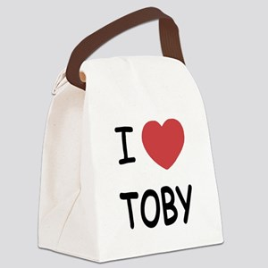 I heart TOBY Canvas Lunch Bag