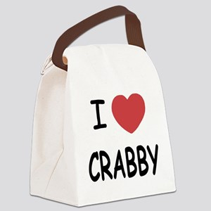 I heart CRABBY Canvas Lunch Bag