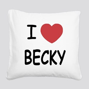 I heart BECKY Square Canvas Pillow