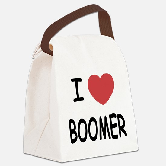 I heart BOOMER Canvas Lunch Bag