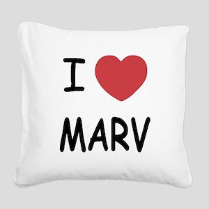 I heart MARV Square Canvas Pillow