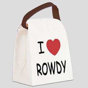 I heart ROWDY Canvas Lunch Bag