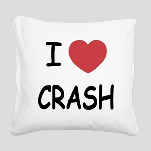 I heart CRASH Square Canvas Pillow