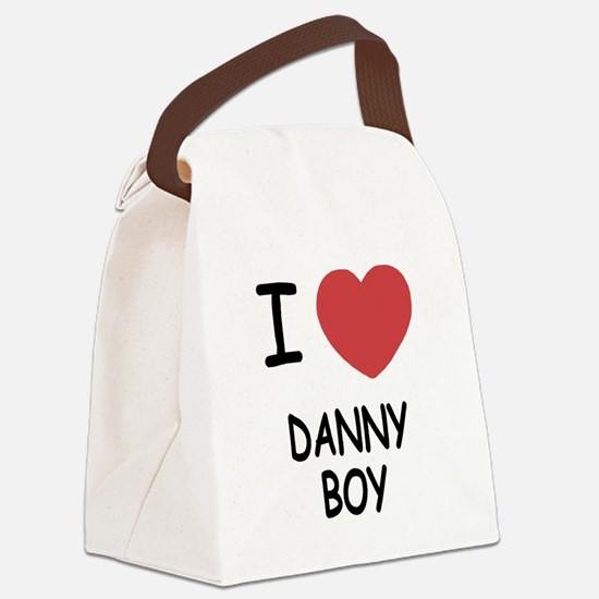 I heart DANNY BOY Canvas Lunch Bag