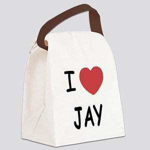 I heart JAY Canvas Lunch Bag