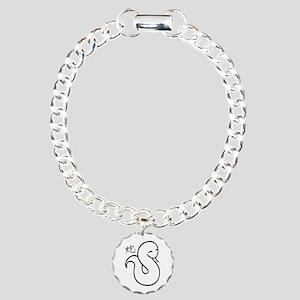 Zodiac-Snake Charm Bracelet, One Charm