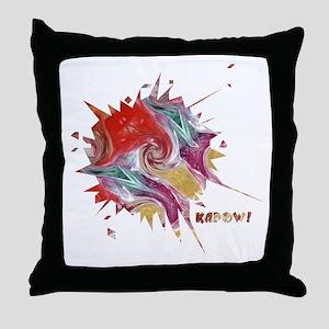 Smooth Kapow Throw Pillow