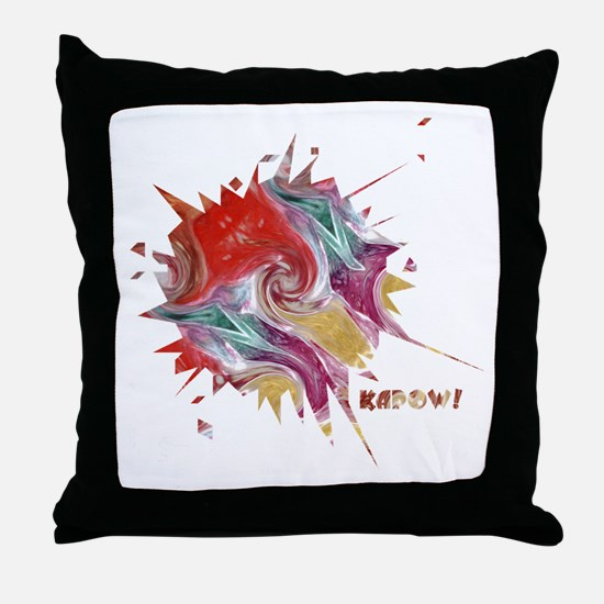 Smooth Kapow Throw Pillow