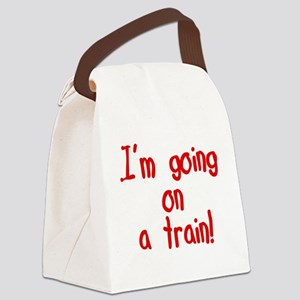 goingonatrain Canvas Lunch Bag